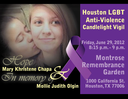 Candlelight Vigil on June 29 at 8:15 p.m. • Montrose Remembrance Garden